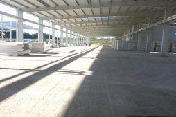 widok konstrukcji stalowej 1 - hala produkcyjna z częścią biurową, dla Leann Stańczyk, Słupsk, woj. pomorskie