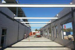 część biurowa w budowie - hala produkcyjna z częścią biurową, dla Leann Stańczyk, Słupsk, woj. pomorskie