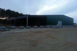 widok ogólny hali - hala magazynowa, dla Inwestora zagranicznego, Radachów, woj. lubuskie