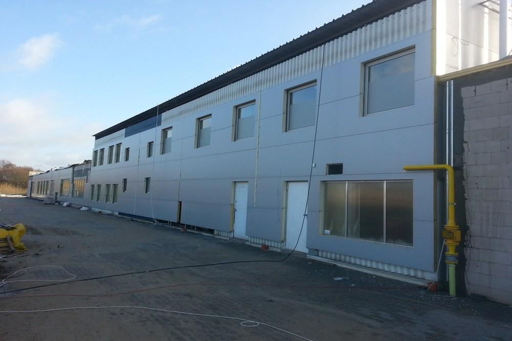 prace wykończeniowe elewacyjne - hala produkcyjna z częścią biurową, dla Leann Stańczyk, Słupsk, woj. pomorskie