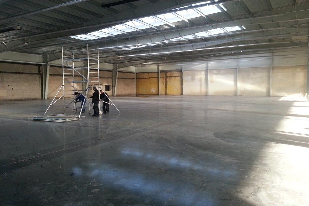 prace wykończeniowe wewnętrzne 2 - hala produkcyjna z częścią biurową, dla Leann Stańczyk, Słupsk, woj. pomorskie