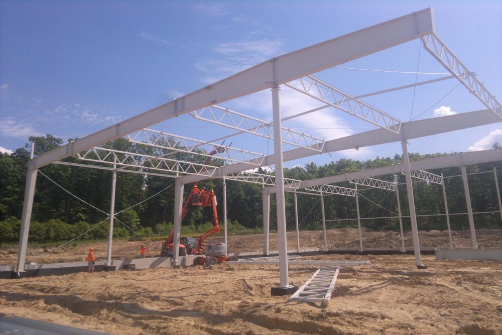 konstrukcja stalowa - hala produkcyjno-magazynowa z budynkiem biurowym, dla Jota Group, Ostróda, warmińsko-mazurskie