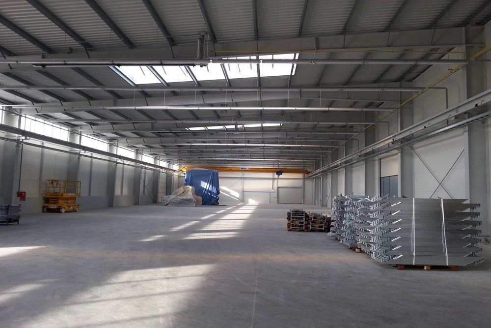 wnętrze budynku 1 - hala produkcyjna z częścią biurową, dla Leann Stańczyk, Słupsk, woj. pomorskie