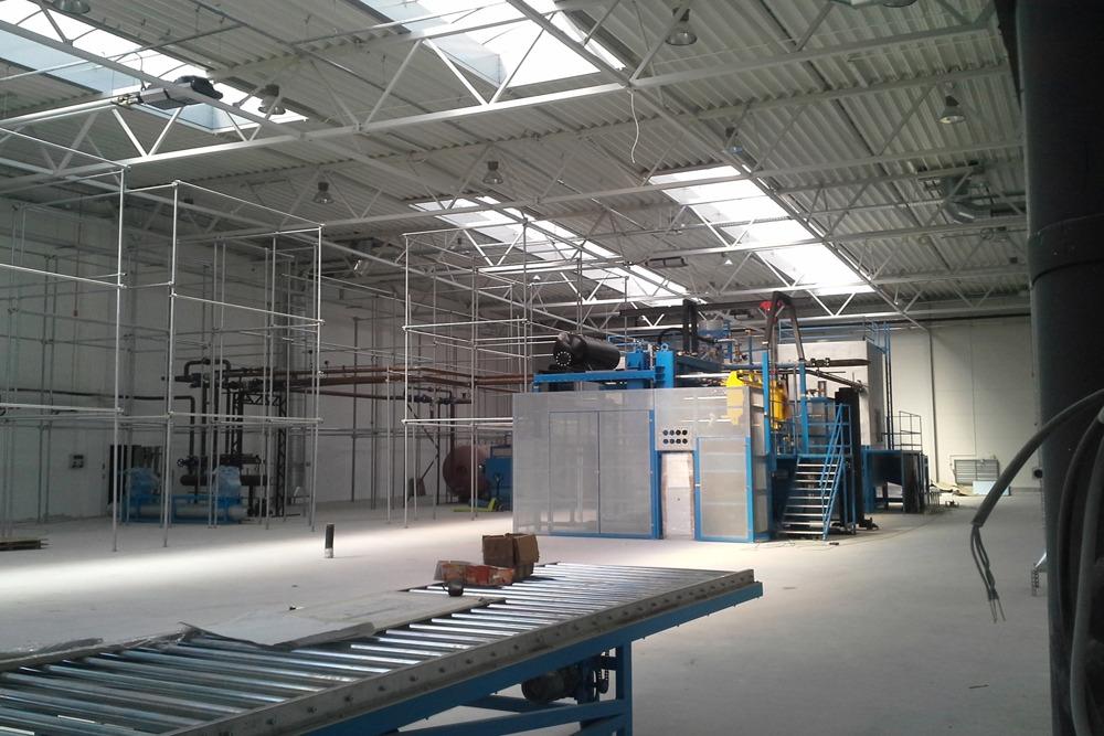zaplecze technologiczne 2 - hala produkcyjna z częścią biurową, dla Arsanit, Konin, woj. wielkopolskie