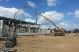 budowa stropu - hala produkcyjno-magazynowa z budynkiem biurowym, dla Jota Group, Ostróda