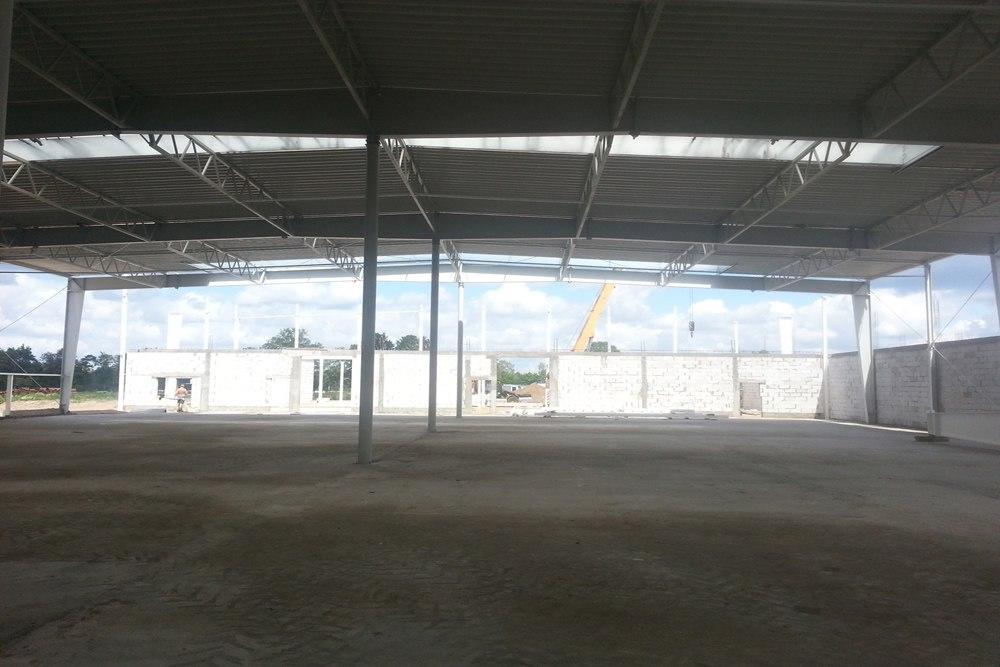 wnętrze obiektu - hala produkcyjno-magazynowa z budynkiem biurowym, dla Jota Group, Ostróda, warmińsko-mazurskie