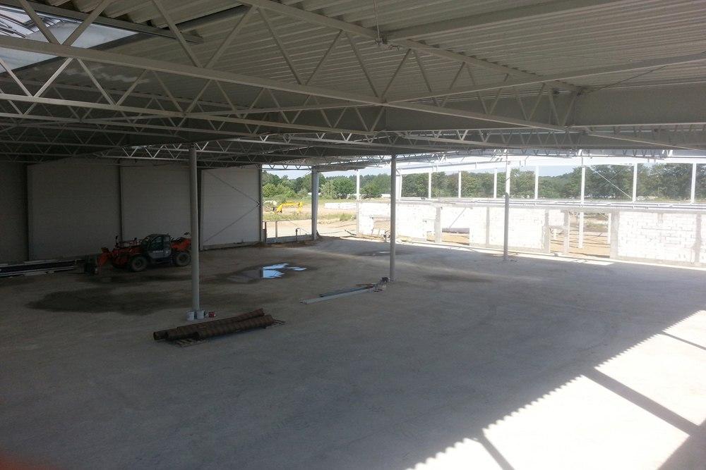 wnętrze budynku - hala produkcyjno-magazynowa z budynkiem biurowym, dla Jota Group, Ostróda, warmińsko-mazurskie