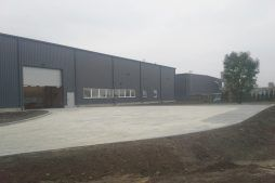 elewacja budynku 1 - hala produkcyjna z częścią biurową, dla Nome, Mników, woj. małopolskie