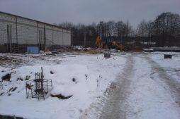 teren budowy - hala magazynowa, Firma Telmex, Pisz, woj. warmińsko-mazurskie