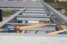elementy konstrukcyjne dachu - hala magazynowa z budynkiem biurowym, dla Koesters & Meyer, Malanów