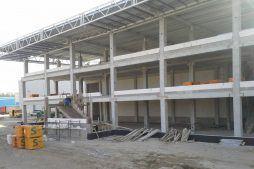 konstrukcja z prefabrykatów - hala magazynowa z budynkiem biurowym, dla Koesters & Meyer, Malanów