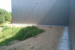 opaska chodnikowa wokół budynku - hala magazynowa, Firma Telmex, Pisz