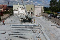 przygotowywanie do wznoszenia konstrukcji - hala magazynowa, dla Multi Pharme, Łomża