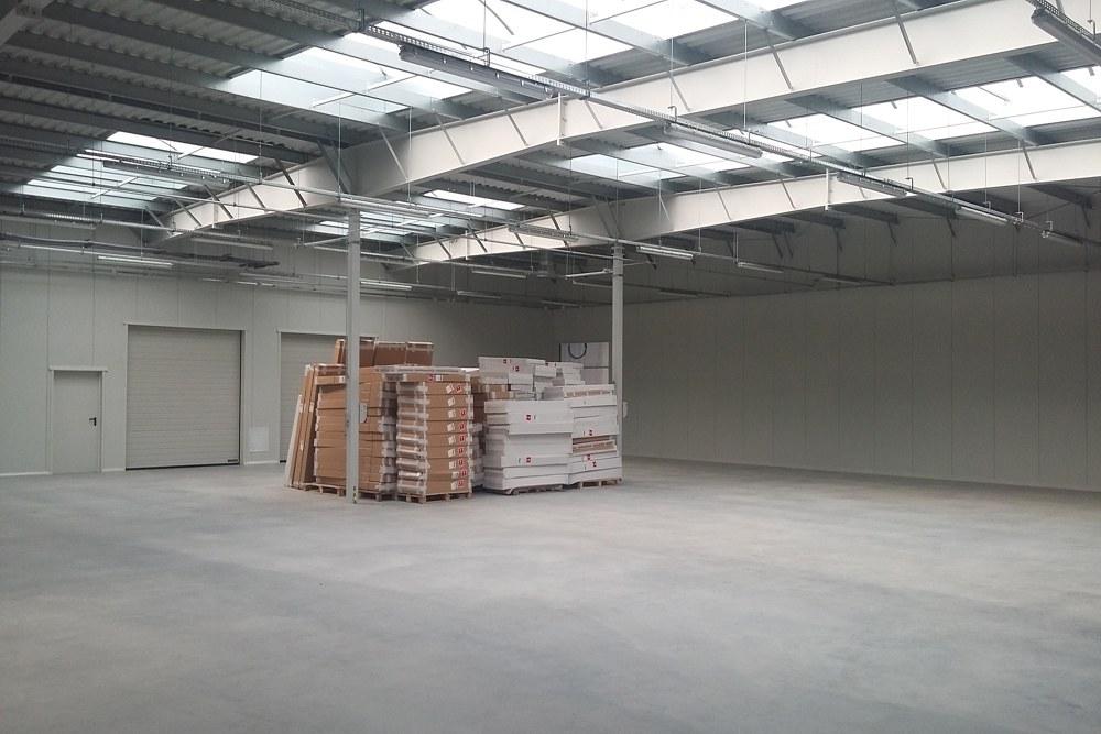 wnętrze - hala produkcyjna, firma Van Den Block, Lublew Gdański, woj. pomorskie