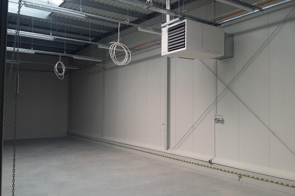 nagrzewnica - hala produkcyjna, firma Van Den Block, Lublew Gdański, woj. pomorskie