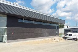 zdjęcie z budowy - budynek socjalno-biurowy, firma Van Den Block, Lublew Gdański, woj. pomorskie