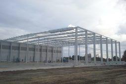 konstrukcja stalowa budynku - hala magazynowa, dla Szpec-Bud, Kobylnica, woj. pomorskie