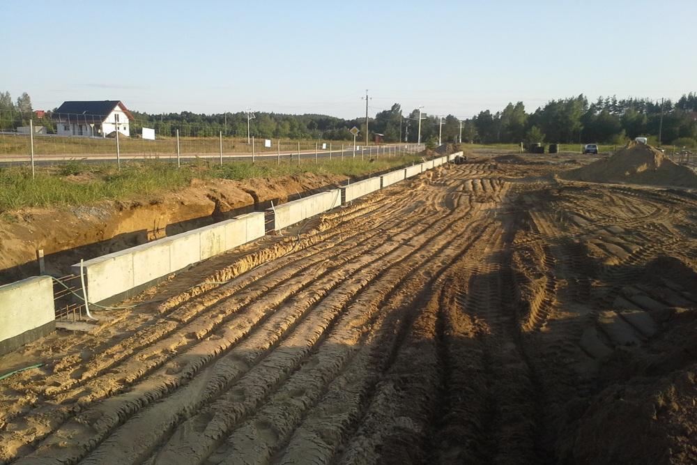 prace ziemne - hala produkcyjna z budynkiem biurowym, dla LÜTTGENS, Nielbark, woj. warmińsko-mazurskie