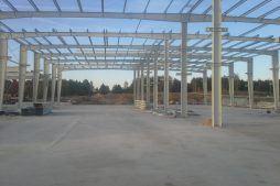 konstrukcja stalowa - hala produkcyjna z budynkiem biurowym, dla LÜTTGENS, Nielbark, woj. warmińsko-mazurskie