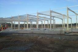 konstrukcja blachownicowa - hala produkcyjna z budynkiem biurowym, dla LÜTTGENS, Nielbark, woj. warmińsko-mazurskie