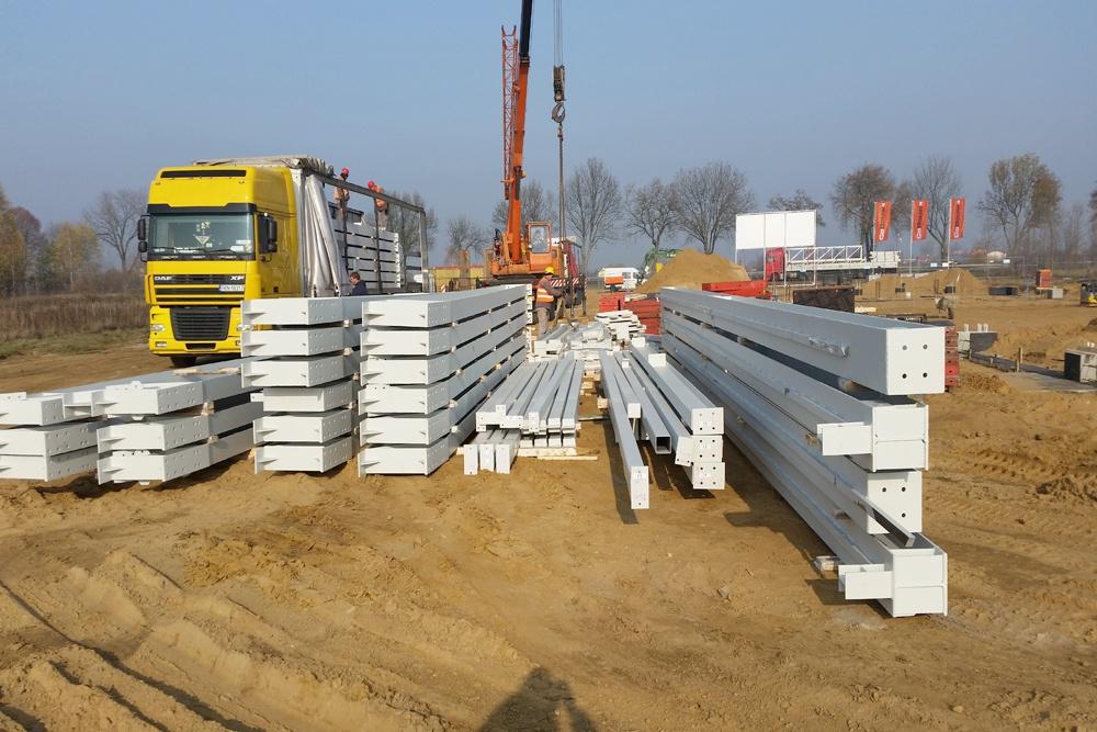 stalowe materiały budowlane - budynek socjalno-biurowy, dla BB Investments, Łomna, woj. mazowieckie