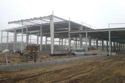 konstrukcja stalowa budynku - hala produkcyjna z budynkiem biurowym, dla LÜTTGENS, Nielbark, woj. warmińsko-mazurskie