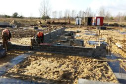 wznoszenie ścian konstrukcyjnych - budynek socjalno-biurowy, dla BB Investments, Łomna