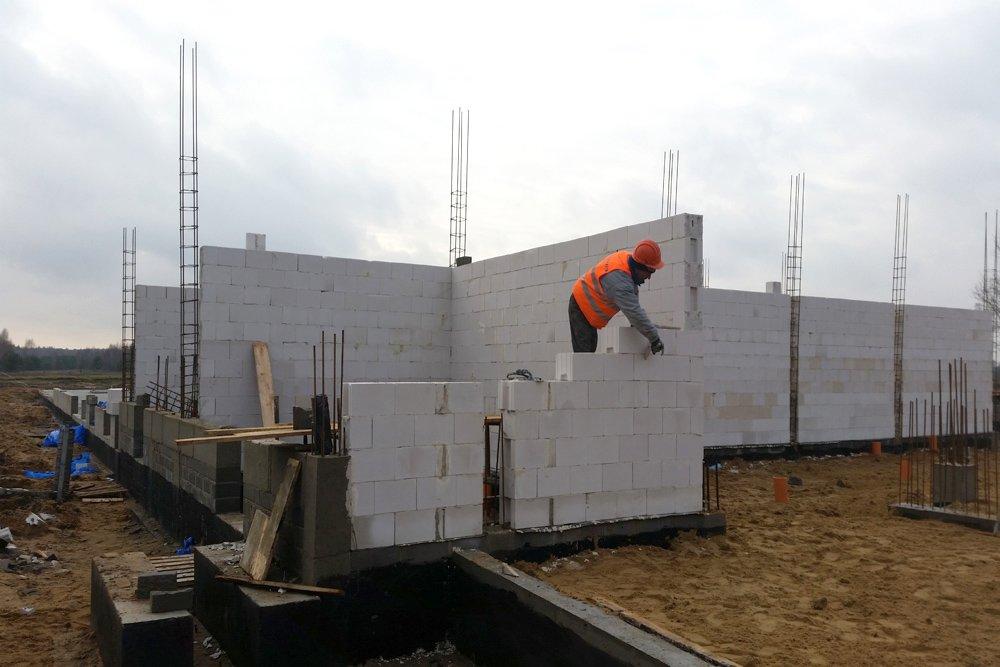 ściany konstrukcyjne - budynek socjalno-biurowy, dla BB Investments, Łomna, woj. mazowieckie