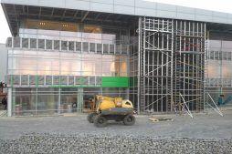 montaż paneli elewacyjnych - hala magazynowa z budynkiem biurowym, dla Koesters & Meyer, Malanów