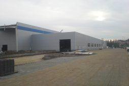prace wykończeniowe zewnętrzne - hala produkcyjna z budynkiem biurowym, dla LÜTTGENS, Nielbark, woj. warmińsko-mazurskie