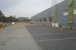 plac przed inwestycją - hala produkcyjna z budynkiem biurowym, dla LÜTTGENS, Nielbark, woj. warmińsko-mazurskie