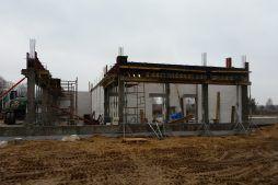 konstrukcja obiektu - budynek socjalno-biurowy, dla BB Investments, Łomna, woj. mazowieckie