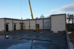 obiekt w trakcie budowy - budynek socjalno-biurowy, dla BB Investments, Łomna, woj. mazowieckie