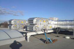 instalacje na dachu - hala magazynowa z budynkiem biurowym, dla Koesters & Meyer, Malanów