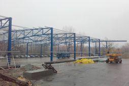 konstrukcja stalowa - hala produkcyjno-magazynowa, dla Złotniki, Wrocław, woj. dolnośląskie