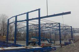 wznoszenie konstrukcji stalowej - hala produkcyjno-magazynowa, dla Złotniki, Wrocław, woj. dolnośląskie