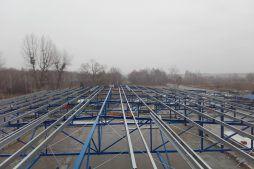 konstrukcja stalowa zadaszenia w widoku z góry - hala produkcyjno-magazynowa, dla Złotniki, Wrocław