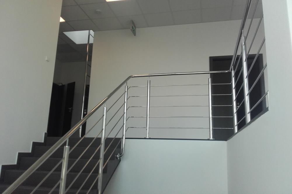 klatka schodowa - hala produkcyjna z budynkiem biurowym, dla LÜTTGENS, Nielbark, woj. warmińsko-mazurskie
