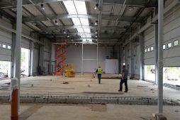 wnętrze obiektu - hala warsztatowo-magazynowa, dla BB Investments, Łomna, woj. mazowieckie