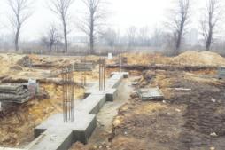 fundamenty ściany pożarowej-hala magazynowa z częścią socjalno-biurową, AMP Polska, Częstochowa, województwo śląskie