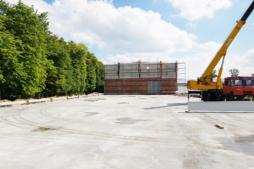 beton podkładowy pod budowę hali magazynowej-hala magazynowa, Firma Fagum-Stomil, Łuków, woj. lubelskie