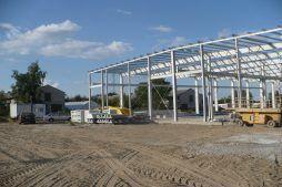 konstrukcja stalowa hali - hala produkcyjna z częścią biurową, dla Pritip, Puławy, woj. lubelskie
