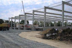 wznoszenie konstrukcji stalowej - centrum logistyczne z budynkiem biurowym, dla Schavemaker, Kąty Wrocławskie