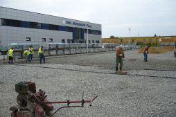 prace zewnętrzne - rozbudowa hali produkcyjnej, dla OML Morando, Czerwionka-Leszczyny
