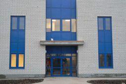 wejście do budynku - centrum logistyczne z budynkiem biurowym, dla Schavemaker, Kąty Wrocławskie