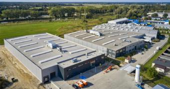rozbudowa komplelsu hal firmy Addit - kompleks hal dla branży metalowej, dla firmy Addit, wybudowany przez CoBouw Polska, w Węgrowie, w woj. mazowieckim