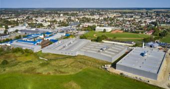 widok z góry na lokalizację hal Addit - kompleks hal, dla firmy z branży metalowej, Węgrów, woj. mazowieckie