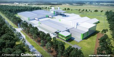 kompleks produkcyjno-magazynowy firmy Liedmann - rozbudowa fabryki, dla Liedmann, branża nawozów wapniowych, Krzeczów, woj. łódzkie
