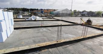 beton podkładowy - druga hala dla Markos, producenta łodzi, Głobino, woj. pomorskie