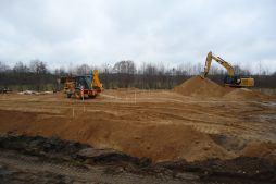 przygotowanie terenu pod budowę - hala magazynowa, Firma Telmex, Pisz